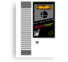 Nes Cartridge: Super Smash Bros Canvas Print