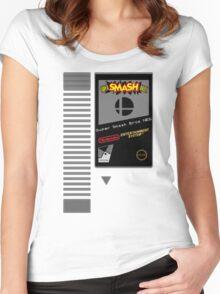 Nes Cartridge: Super Smash Bros Women's Fitted Scoop T-Shirt
