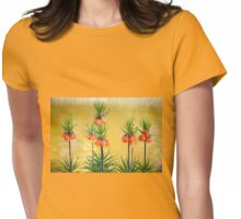 Orange lily flowers Fritillaria imperialis Womens Fitted T-Shirt
