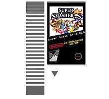 Nes Cartridge: Super Smash Bros Photographic Print