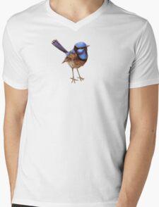 Blue Wrens, Russet and White Mens V-Neck T-Shirt