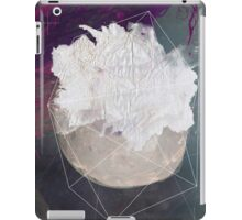 Abstract white volcano iPad Case/Skin