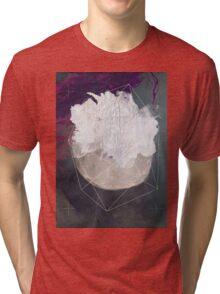 Abstract white volcano Tri-blend T-Shirt