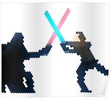 Star wars Vader and Luke fight  Poster