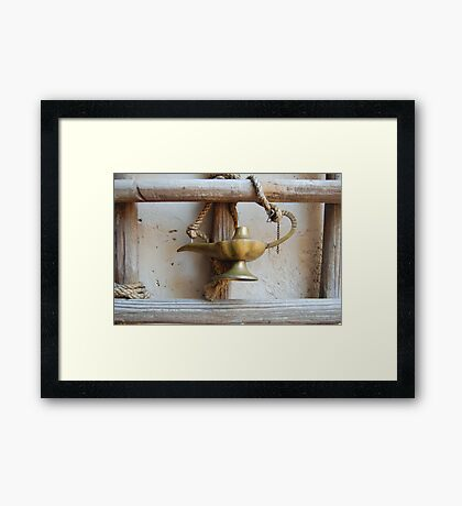 Where Is the Genie of the Lamp?  Framed Print