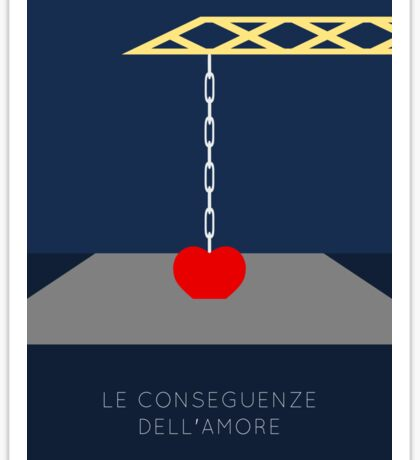 The Consequences of Love alternative movie poster Sticker