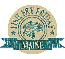 MAINE FISH FRY Photographic Print