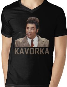 KAVORKA Mens V-Neck T-Shirt