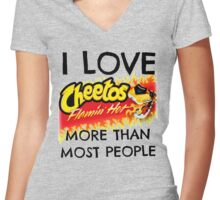cheetos Women's Fitted V-Neck T-Shirt