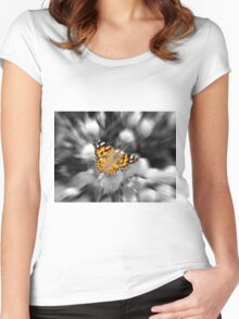 A Painted Lady  Women's Fitted Scoop T-Shirt