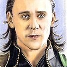 Tom Hiddleston miniature by wu-wei