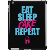 Steve Aoki - eat sleep cake repeat - Blue - Pink iPad Case/Skin
