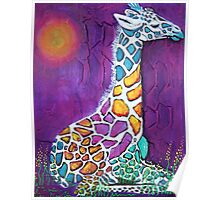 Giraffe of Many Colors Poster