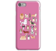 Dogs - Pink iPhone Case/Skin