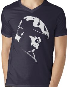 Biggie Stencil Mens V-Neck T-Shirt