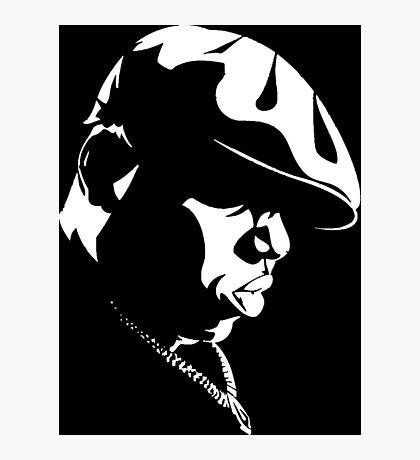 Biggie Stencil Photographic Print