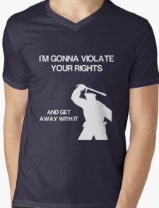 VIOLATE Mens V-Neck T-Shirt