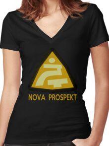 Nova Prospekt Women's Fitted V-Neck T-Shirt