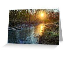 Sunrise Over Mallory Creek Greeting Card