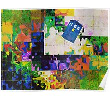 Tardis (abstract-informel-tachisme) Poster