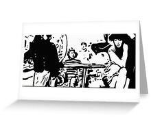 Cafe Girl Greeting Card