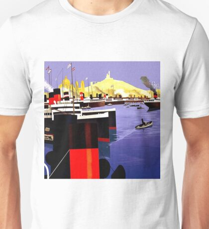 Graphic Works - Marseille Harbour - 1920 Unisex T-Shirt