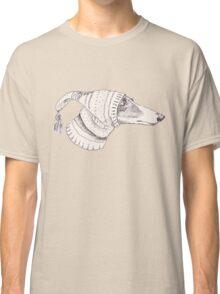 Winter Whippet  Classic T-Shirt