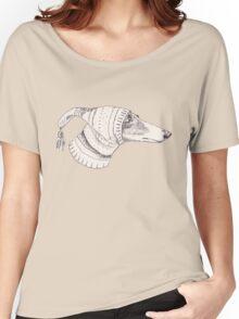 Winter Whippet  Women's Relaxed Fit T-Shirt