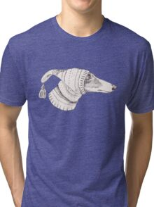 Winter Whippet  Tri-blend T-Shirt