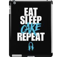 Steve Aoki - eat sleep cake repeat - Blue - Black white iPad Case/Skin