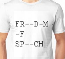 # Freedom Of Speech [REDACTED] Unisex T-Shirt