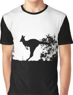 Kangoroo Silhouette Graphic T-Shirt