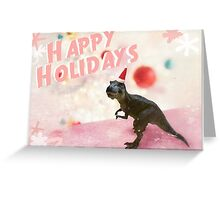 Festive T-Rex Christmas Design Greeting Card