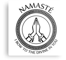 Namaste Yoga Design - I Bow To The Divine In You Metal Print