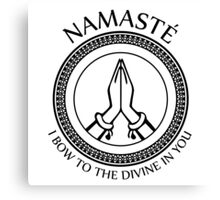 Namaste Yoga Design - I Bow To The Divine In You Canvas Print