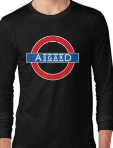 London Underground-style Asgard Long Sleeve T-Shirt