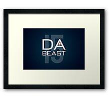 Da Beast Framed Print