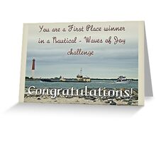nautical winners Banner - not for sale Greeting Card