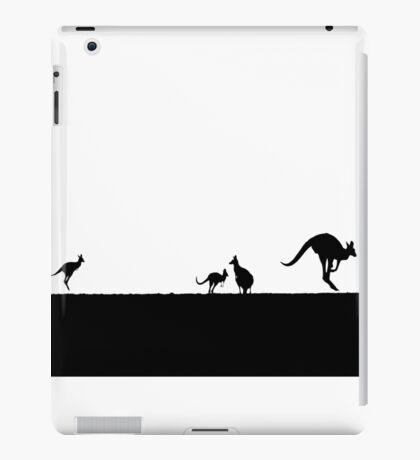 Kangaroos silhouettes at Sunset iPad Case/Skin