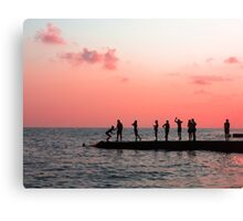 Pink water Canvas Print