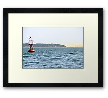 The Red Buoy - Bay of Arcachon, France.  Framed Print