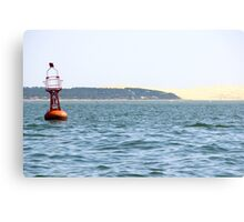 The Red Buoy - Bay of Arcachon, France.  Canvas Print