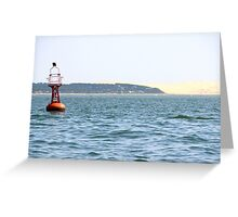 The Red Buoy - Bay of Arcachon, France.  Greeting Card