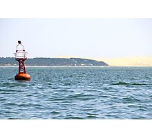 The Red Buoy - Bay of Arcachon, France.  Photographic Print
