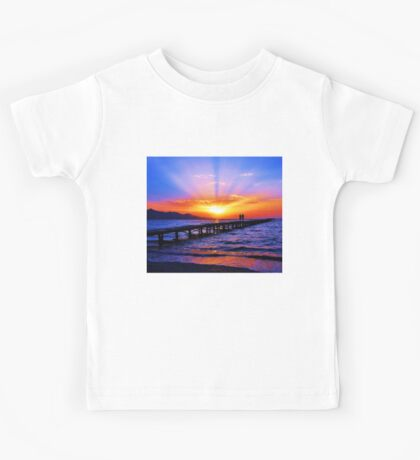 Sunset in the beach Kids Tee