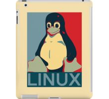 Tux Linux Hope Poster Parody Design for Free Software Geeks iPad Case/Skin