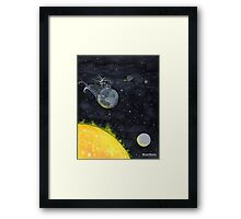 Earth Moving Too Fast, Lunch Ruined, Wind Turbines To Blame Framed Print