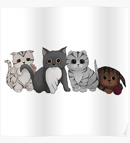 A Gang of Kittens Poster