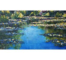 Reflections & Lilies, Giverny Photographic Print