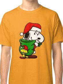 Santa Snoopy Beautiful christmas Classic T-Shirt